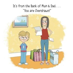 MTC15 - Funny Teenager Card Bank of Mum & Dad